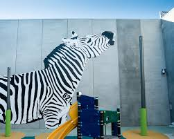 prison art murals at lara s karreenga corrections facility black and white zebra painted on a gaol wall