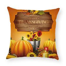 happy thanksgiving decorations cushion cover pumpkin