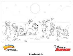 jake and the never land pirates group colouring page disney