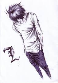 tags death note l lawliet sketch artist request perspectiva