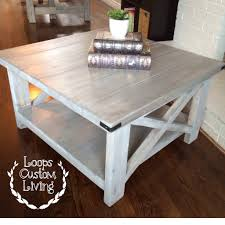 square gray wood coffee table white washed grey industrial square coffee table décoration de
