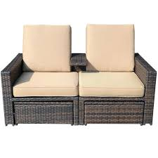 rattan recliner chair best reclining lounge chairs patio rattan