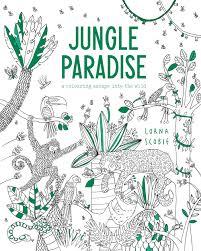 jungle paradise colouring book lorna scobie illustration