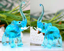 Animal Figurines Home Decor by Decorating Blue Ceramic Elephant Figurines For Home Decoration Ideas