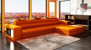 amazon com vig furniture 5022 polaris orange bonded leather