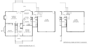 garage floor plan houseplans biz house plan 2958 c the barnwell c w garage