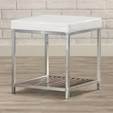 elena vanity stool wrought studio bronson vanity stool reviews wayfair