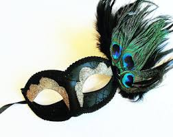 peacock masquerade masks peacock mask etsy