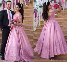engagement dresses princess shoulder lace evening dresses dubai pink dresses
