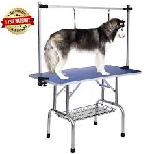 large dog grooming table shop for large heavy duty pet dog grooming table w adjustable