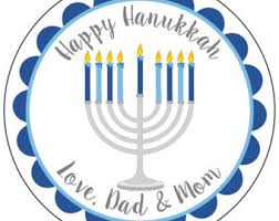hanukkah stickers personalized menorah etsy
