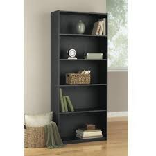 Narrow Black Bookcase by Leaning Bookcase With 4 Shelves White For Children In S A Best