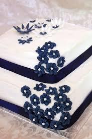 navy blue and white wedding cake when feta met olive