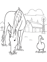 free horse coloring page to print for kids pixelpictart com