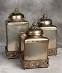 coastal seashell canisters set of 3 storage kitchens and