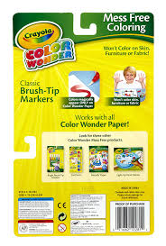 amazon com crayola classic color wonder brush tip markers 1