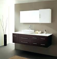 Espresso Bathroom Storage Bathroom Vanities Solid Wood Construction Wall Mounted Bathroom