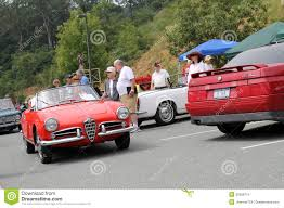 classic alfa romeo driving classic alfa romeo convertible editorial image image
