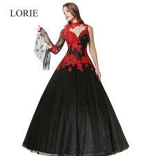 robe de mari e gothique black and wedding dress 2017 lorie robe mariage high neck