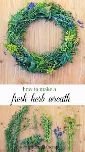 herb wreath make a gorgeous culinary herb wreath
