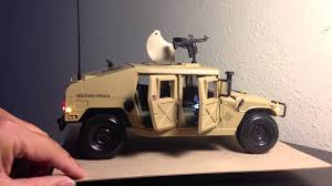 1 18 military police humvee with lights and sirens and realistic