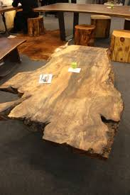 table exquisite raw wood coffee table made from a single quebec