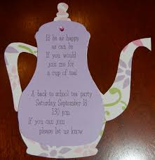 tea party place card clipart collection