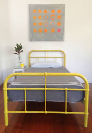 industrial metal single kids bed frame retro vintage hospital