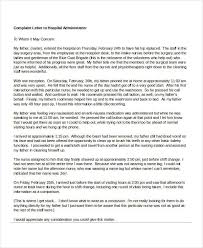 example of complaint letter to hospital cover letter templates