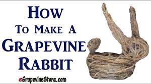 how to make a grapevine rabbit easy easter decoration gift