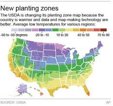 global zone map map for what to plant reflects global warming
