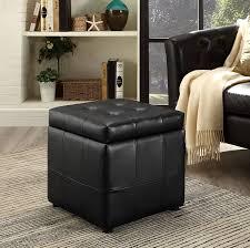 sofa leather tufted ottoman storage stool ottoman coffee table