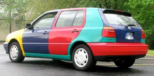 rainbow cars hey there u0027s a cool car 1996 volkswagen golf harlequin