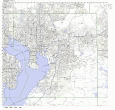 Zip Code By Map Amazon Com Hillsborough County Florida Fl Zip Code Map Not