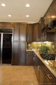 kitchen cabinets with backsplash pictures of kitchens traditional wood kitchens walnut color
