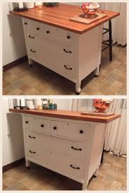 best 25 butcher block top ideas on pinterest butcher blocks kitchen island made from old dresser with home made butcher block top and wheels