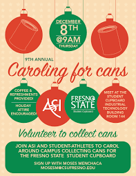 Fresno State Parking Map by Caroling For Cans To Benefit Fresno State Student Cupboard Dec 8