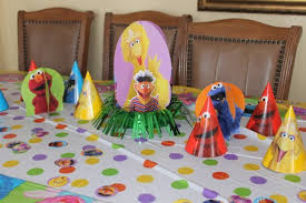 Decorate Table For Birthday Party Free Sesame Street Birthday Party Decorations Happy And Blessed Home