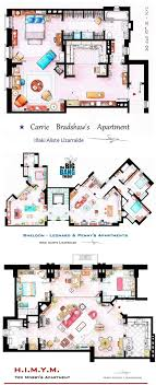 tv show apartment floor plans as seen on tv floor plans from famous television series urbanist