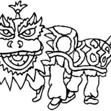 chinese horse coloring page archives mente beta most complete