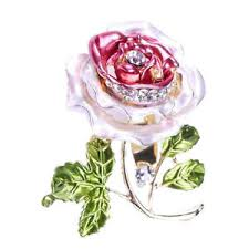 flower pro pro women rhinestone flower brooch pin