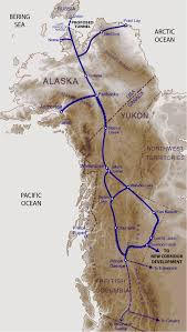 Alaska Canada Map by A Railway From Canada To Alaska Ready To Be Built In Six Years