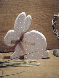 Easter Decorations Rustic by Rustic Easter Bunny Wooden Bunny Rustic Spring Decor Painted