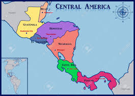 America Central Map by Political Map Of Central America And The Caribbean Nations Free