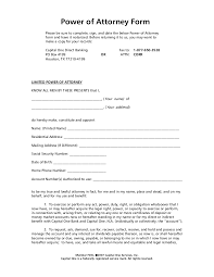 power of authority template limited power of attorney forms power of attorney form2607
