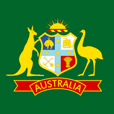 Cricket Flags Australian Cricket Coat Of Arms Displayed On The Baggy Green Cap
