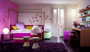 good looking bedroom design ideas come with puprle wall paint