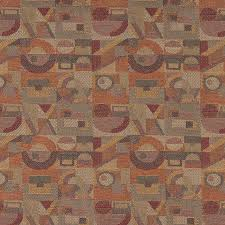Upholstery Fabric Geometric Pattern Gold Burgundy Orange Abstract Geometric Durable Upholstery Fabric