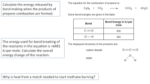 Bond Energies Table C3 3 Calculating And Explaining Energy Change Secondary Science