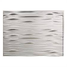 Aluminum Tile Backsplash by Fasade 24 In X 18 In Waves Pvc Decorative Tile Backsplash In